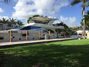 Dock For Rent At Private Secured Dock on the South Florida Intercoastal Waterway!