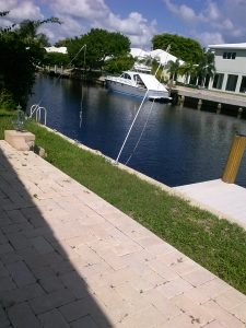 Dock For Rent At 25′ BOAT SLIP BEHIND PRIVATE HOME- IMMEDIATELY AVAILABLE MONTHLY-neg.