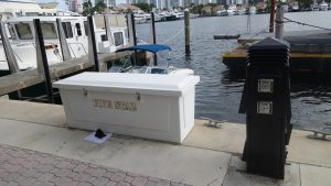Dock For Rent At 75′ X 19′ in deep water, gated marina with hi-fi,water,power,no fix br