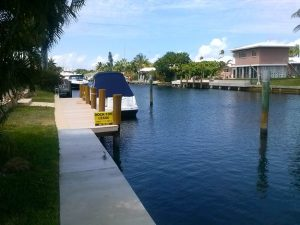 Dock For Rent At 45′ ( &25′)BOAT SLIP BEHIND PRIVATE HOME- IMMEDIATELY AVAILABLE -neg.