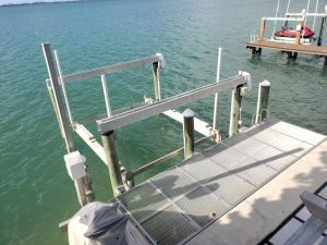 Dock For Rent At Private Catamaran Boat Lift on Biscayne Bay (Up to 42 ft)