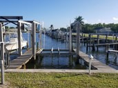 Dock For Rent At Boat lift and wet slip private gated marina.