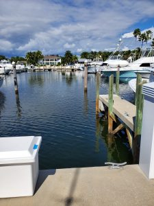 Dock For Rent At Private Slip in Deering Bay Main Marina with shore power and water