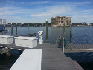 Dock For Rent At 47×20 foot boat dock for rent located on Holiday Isle Destin Fl.