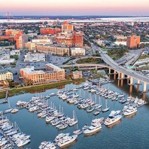 Dock For Rent At Great 55 x 18 ft slip in downtown Charleston SC.