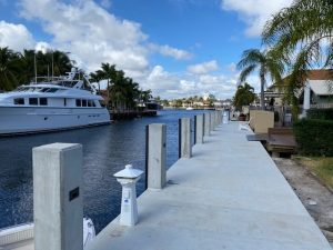 Dock For Rent At New Private Sunrise Key Dock – Deepwater, 3rd Dock from Middle River