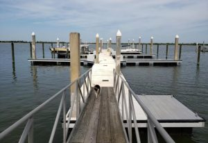 Dock For Rent At Private slip in a private marina in the salt run area of Saint August.