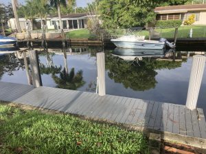 Dock For Rent At Private Dock in Riverland / Lauderdale Isles Area